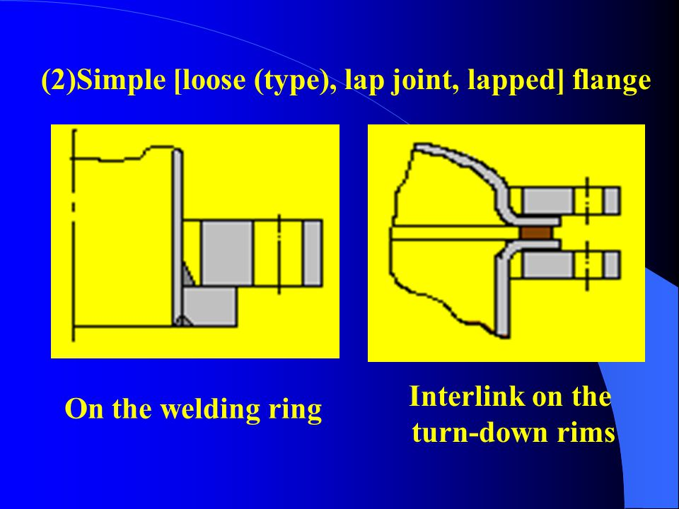 (2)Simple [loose (type), lap joint, lapped] flange
